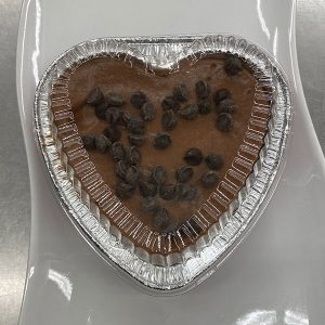 Heart Shape Merv Griffin Cheesecake with Chocolate Chips